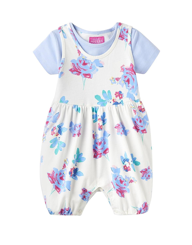 dcd2e0573 Amazon.com: Joules Baby Romper Suit & T-Shirt Set - Cream Margate Posy:  Clothing