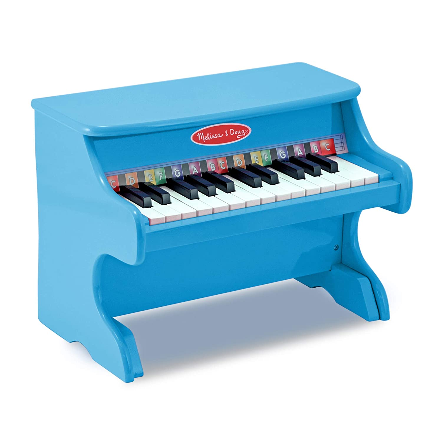 Melissa Doug Learn To Play Piano With 25 Keys And Color Coded Songbook Blue