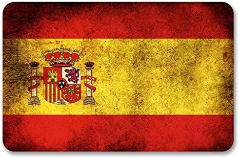 2 x 10cm/100 mm España Bandera española Etiqueta autoadhesiva de ...