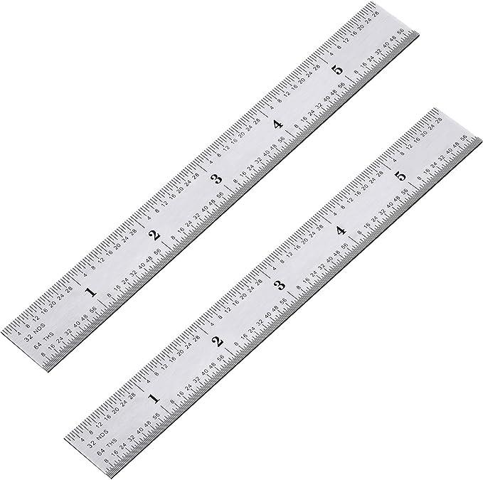 "Lot of 5 SI Manufacturing 18/"" Standard Aluminum English Ruler"