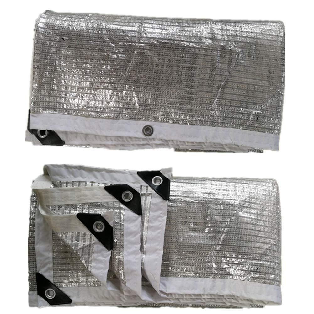 Papel De Aluminio Reflectante Paraguas De Jard/ín A Prueba De Agua Instalaciones Al Aire Libre LSXIAO-Malla Sombra De Red Toldo 98/% De Protecci/ón UV 22 Tama/ños Color : La Plata, Tama/ño : 1x1m