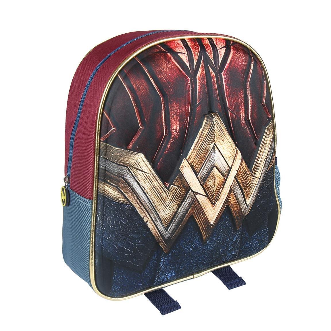 DCスーパーヒーローガールズ2100 – 2078 Children 'sバックパック3d、12インチ、ポリエステル、Wonder Woman   B074C559L2