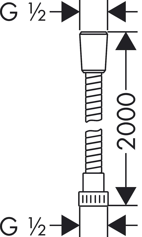 Hansgrohe Flexible de Douche Mariflex 2m Anti-pliure Chrom/é 28154000