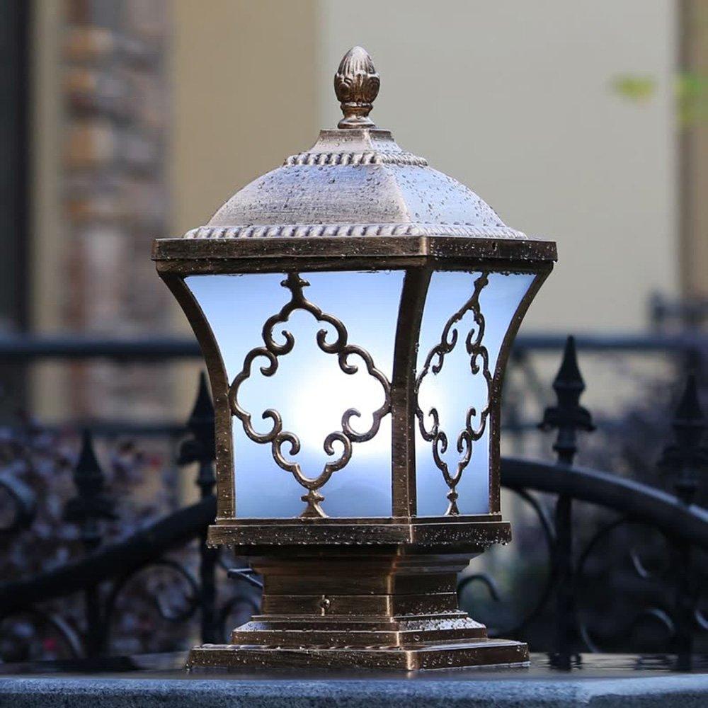 Neixy - 屋外防水壁の景色の列のヘッドライトのランタンユニークな創造的な人格の柱の照明の外観ヨーロッパのアルミヴィラの庭の入り口プールのエッジの結婚式のポストライトの装飾 (Color : Bronze 1, サイズ : 24cm) B07DDGR9HT 16925 24cm|Bronze 1 Bronze 1 24cm