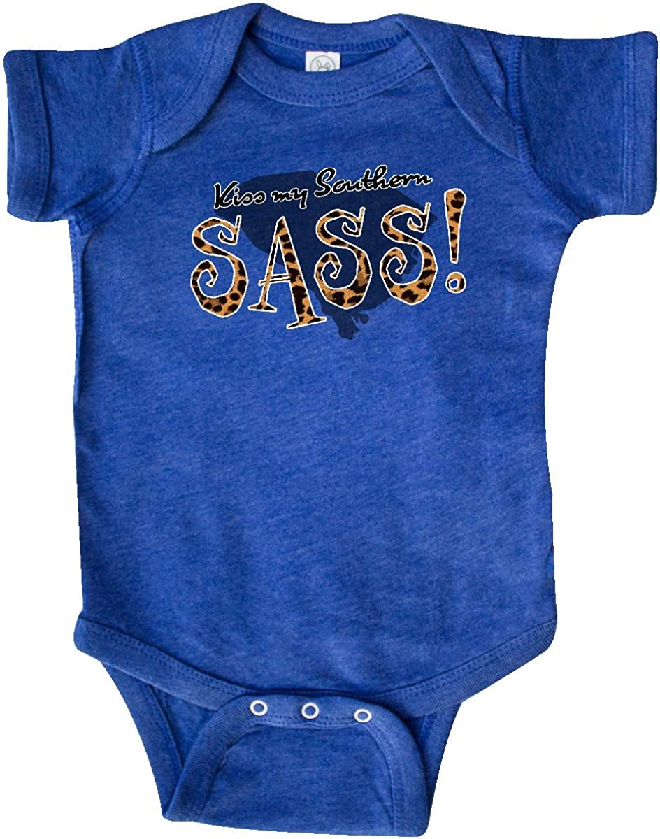 inktastic South Carolina Kiss My Southern Sass in Leopard Print Infant Creeper