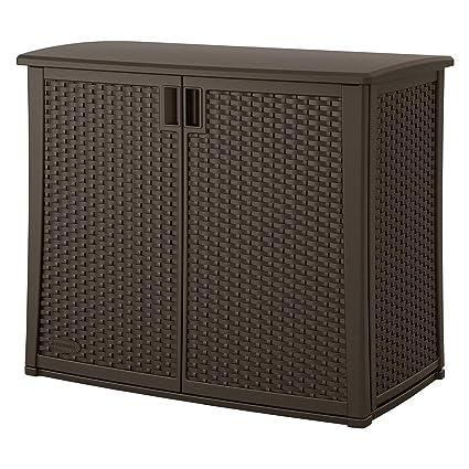 Peachy Amazon Com Outdoor Resin Wicker Storage Cabinet Shed In Best Image Libraries Weasiibadanjobscom