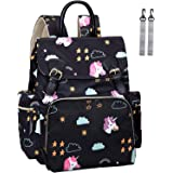 Diaper Bag Backpack, Unicorn Multifunction Back Pack Maternity Baby Nappy Bags for Mom, Large Capacity, Waterproof and…