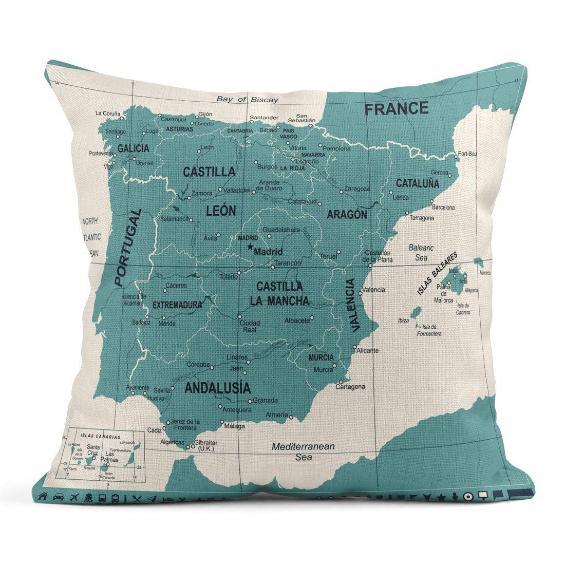 Amazon.com: Emvency Decor Flax Throw Pillow Covers Case ...