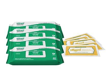 Toallitas antibacterias con Clinell Toallitas Universal