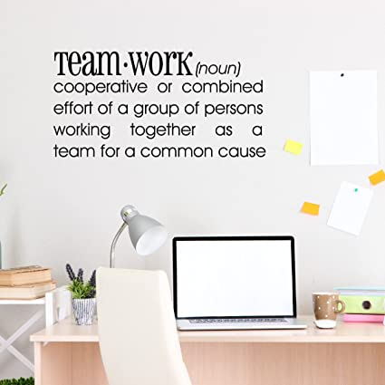 Quote Wall Decal   Teamwork Definition   Office Wall Sticker   Wall Art  Quote   Inspirational