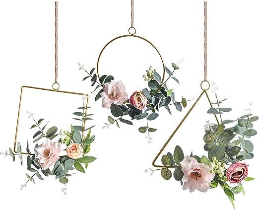 Felt Flower Wall Hanging Nursery Wall Decor Floral Hoop Wreath Floral Wall Hanging Small Hoop Wreath Felt Floral Wreath