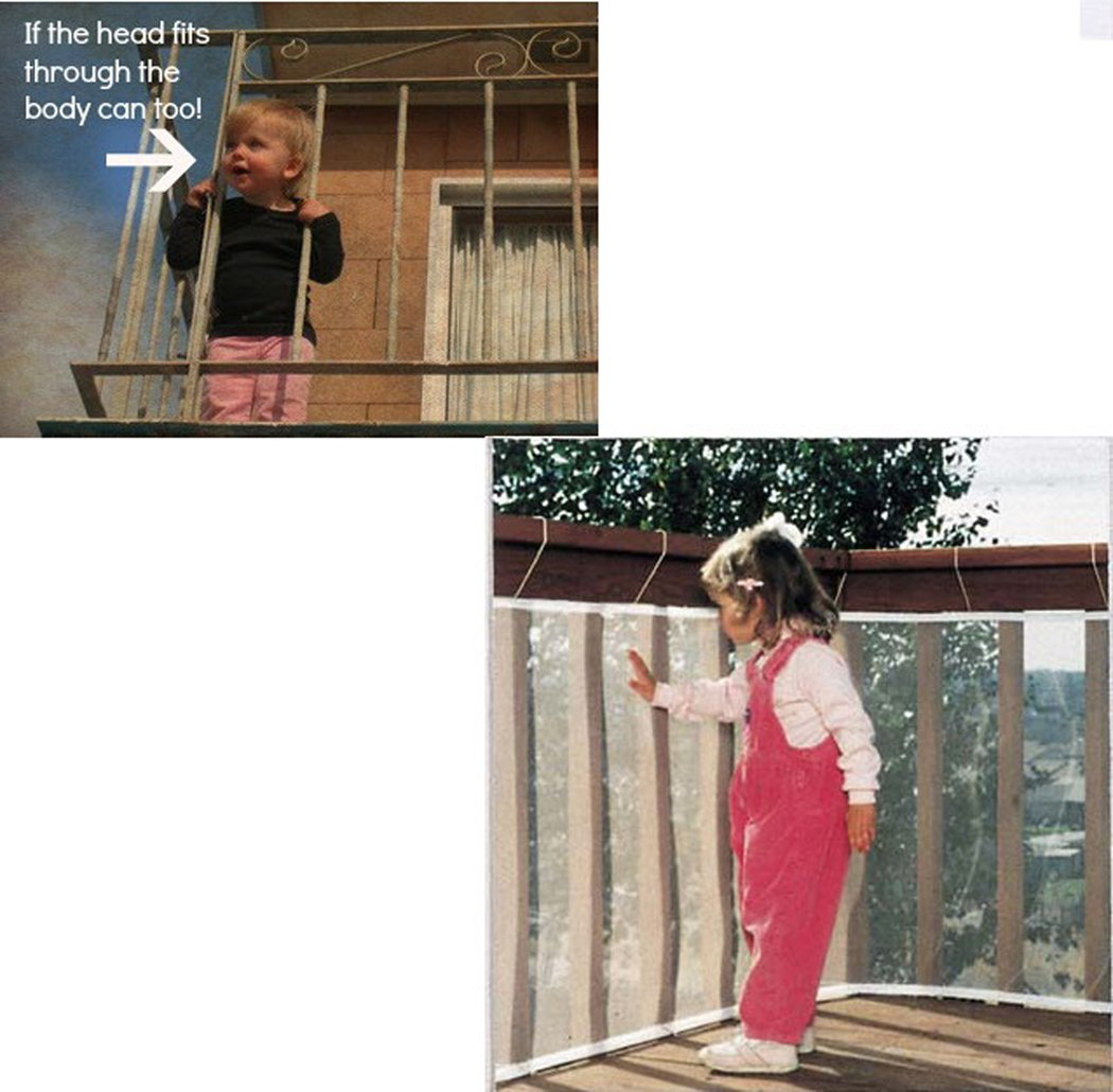 Hillento carril de seguridad para ni/ños balc/ón escaleras red barandilla seguridad de la escalera para ni/ños//balc/ón o patios blanco 9.8 x 2.5 pies protector de escaleras
