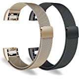 Oitom Bands Compatiable Fitbit Charge 2 Accessory Replacement Bands (2 Pack),(2 Size Choice) Large 6.7-9.3 inch or Small 5.1-6.8 inch,8 Combo Color Available …