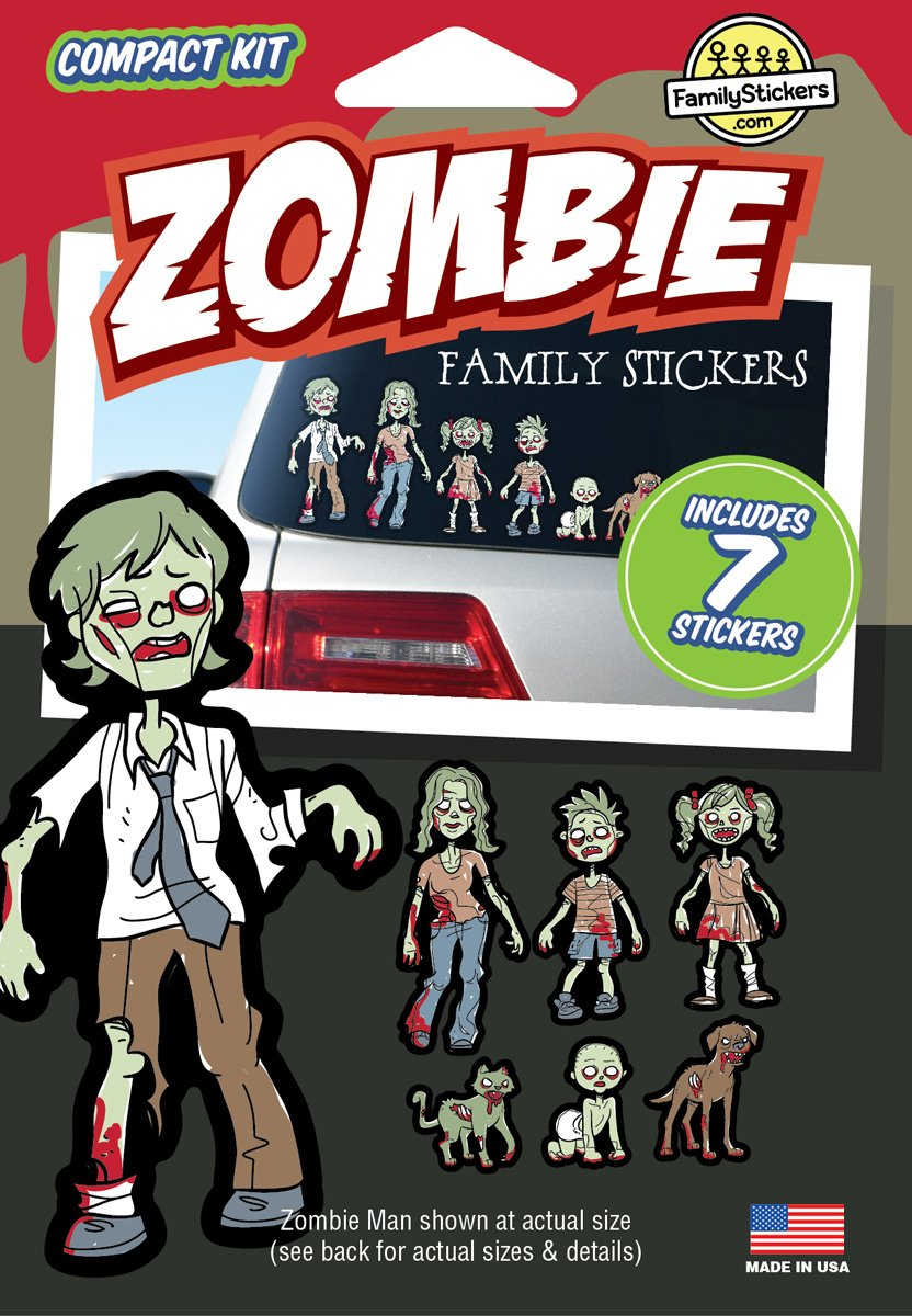 Amazon com wmi designs 12055 zombie family stickers compact kit 7 automotive