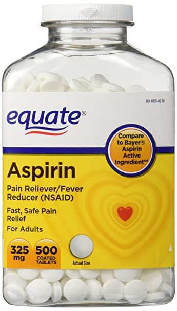 Amazon.com: Equate - Aspirin 325 mg, Original Strength, 500 Coated ...