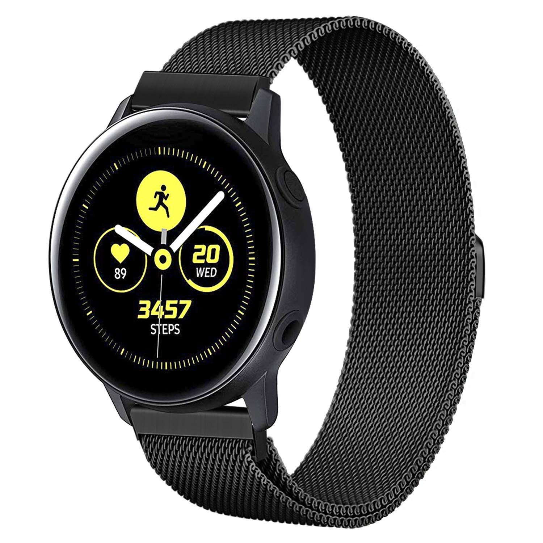 TRUMiRR Galaxy Watch Active 40mm/Galaxy Watch 42mm Correa, 20mm Banda de Reloj de Lazo milanesa Correa de Bloqueo magnético para Samsung Galaxy Watch ...