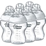 TOMMEE TIPPEE 260ml Feeding Bottles (6-Pack), Clear