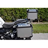 The Pixel Hut gs000251 BMW GS Adventure Motorcycle Reflective Decals Chevrons for Touratech Panniers and Top Case - Black