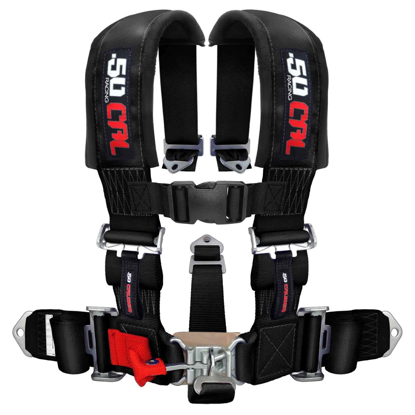 5 Point Racing Harness with Black 3'' Straps for Cars, Trucks, UTV and Off Road Vehicles [6001]