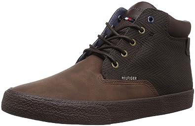 Tommy Hilfiger Mens PASTOL Sneaker, Brown, 7 Medium US