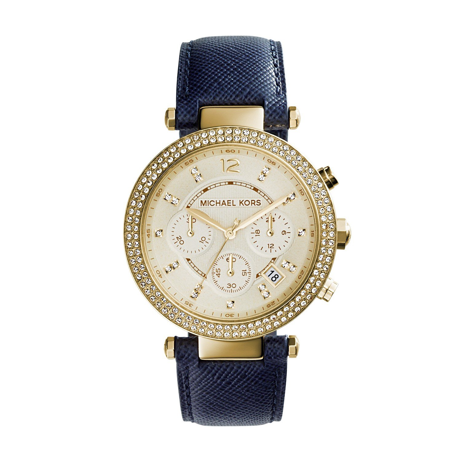 Amazon.com: Michael Kors Women\u0027s Parker Blue Watch MK2280: Michael Kors:  Watches
