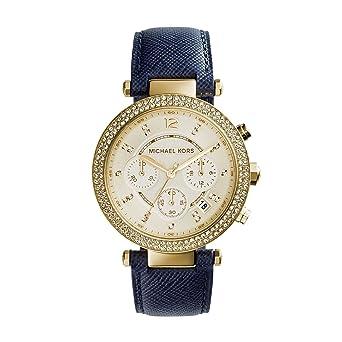 Damenuhren michael kors blau  Michael Kors Damen-Uhren MK2280: Michael Kors: Amazon.de: Uhren