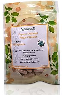 Cápsulas de Shatavari (Vegetariano) | Certificado Orgánico | 450mg| Cápsulas de Asparagus (
