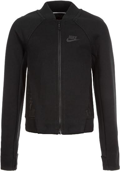Nike Mädchen Tech Fleece Bomber Trainingsjacke, schwarz, L