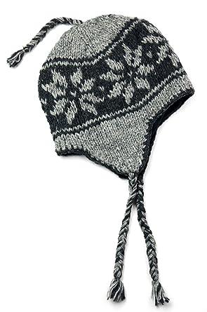 TCG Men s Hand Knit Wool Snowflake Sherpa Hat at Amazon Men s ... 58e611f833e