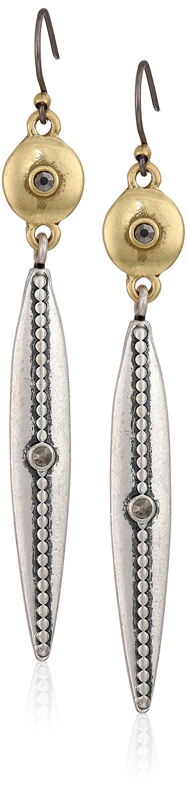 Lucky Brand Women's Linear Drop Earrings, Two Tone, One Size