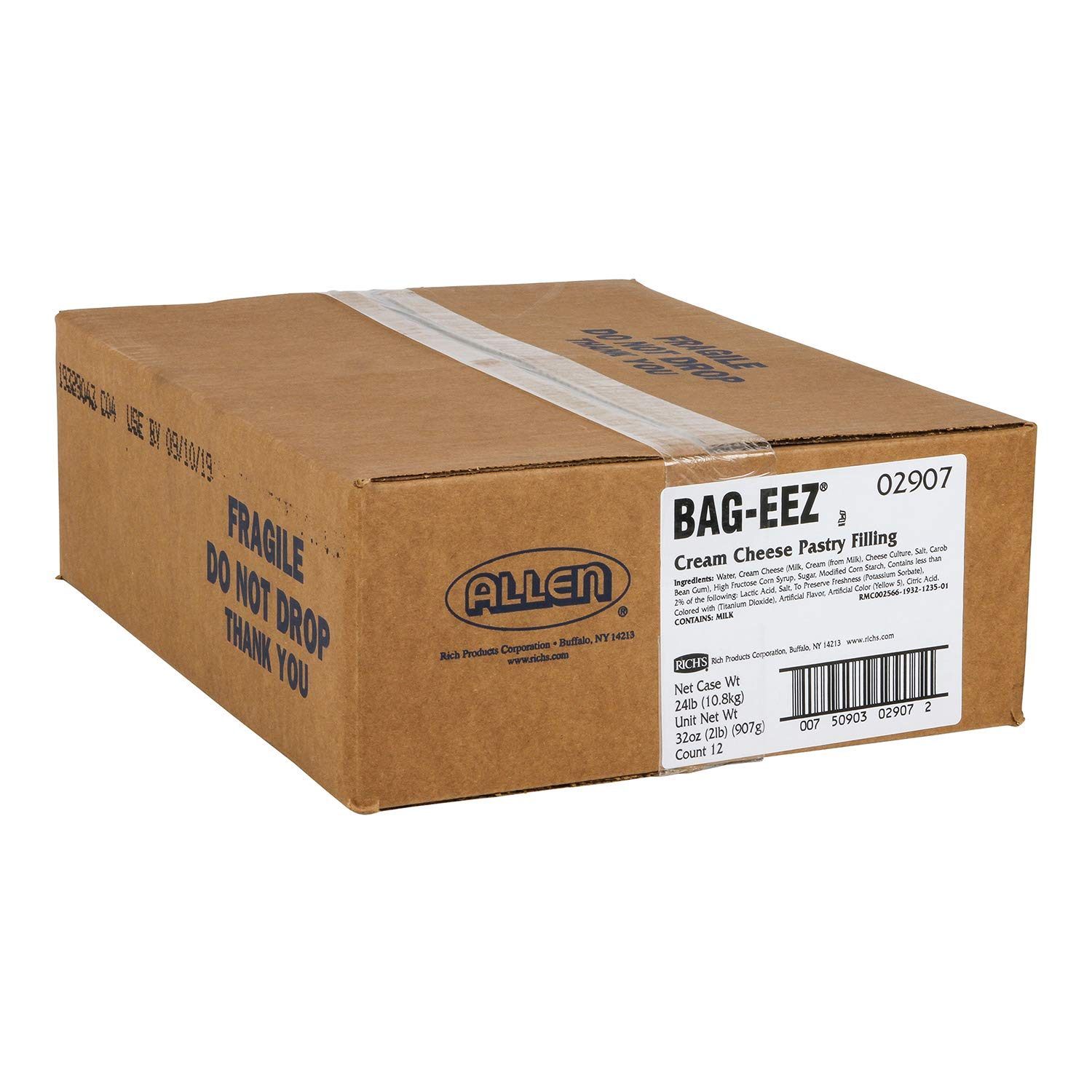 Rich's JW Allen Cream Cheese Pastry Filling Bag-Eez, 12 Pack, 2 lb Bags by Rich's (Image #3)