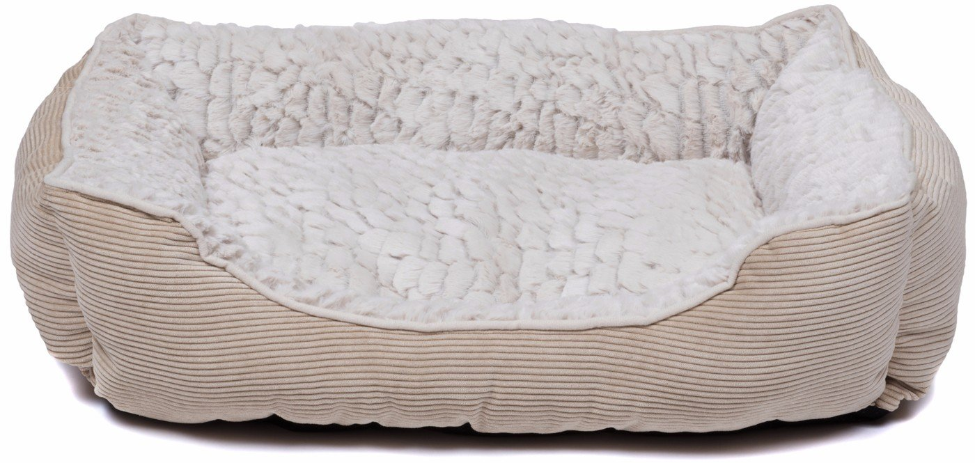 Creative Pet Group Round Dog Bed Beige Beige Hairy Plush, 18