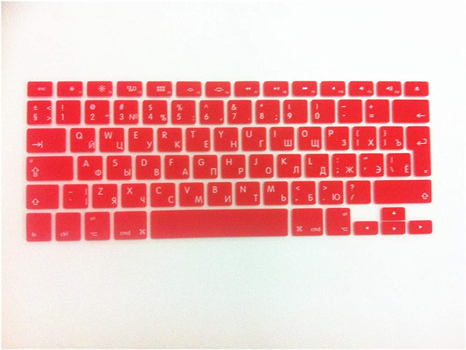 Russian UK EU Silicone Keyboard Cover Skin Protector for MacBook Pro Air 13 15 17 for Mac Air 13.3 5 17 Inch Keybord Cover-in Keyboard Covers from Computer /& Office,Red