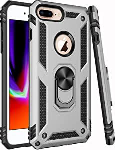 Universal for iPhone 8 Plus Case,iPhone 7 Plus Case,iPhone 6 6s Plus Case,ZADORN 15ft Drop Tested Military Grade Heavy Duty Slim Fit Protective Phone Case for iPhone 6 6S Plus/7 Plus/8 Plus Silver