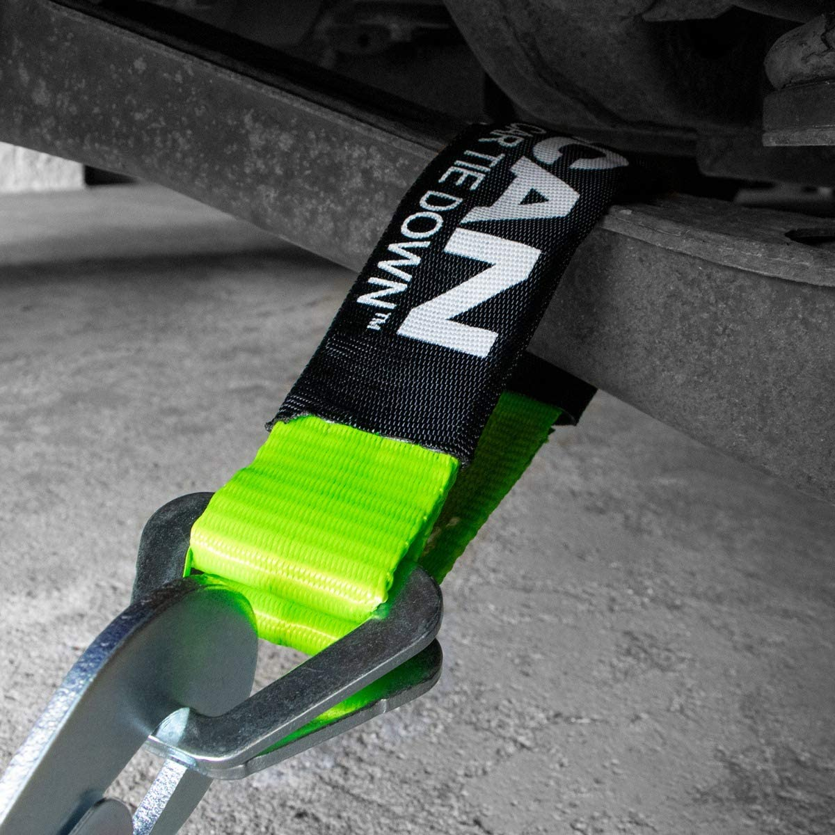 and 4 8 Snap Hook Ratchet Straps 4 VULCAN Complete Axle Strap Tie Down Kit with Snap Hook Ratchet Straps 4 36 Axle Straps High-Viz 22 Axle Straps, Includes