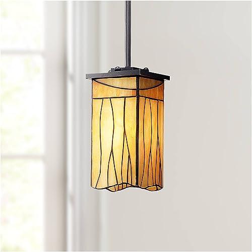 Sedona Bronze Mini Pendant Light 4 Wide Rustic Art Glass Fixture for Kitchen Island Dining Room – Robert Louis Tiffany