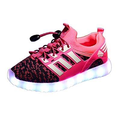 14d3e0875baa9d Yeeper LED leuchtende Bunte Sneaker Turnschuhe Unisex Kinder Jungen Mädchen  USB Auflade Sportschuhe leichte Schuhe 1832