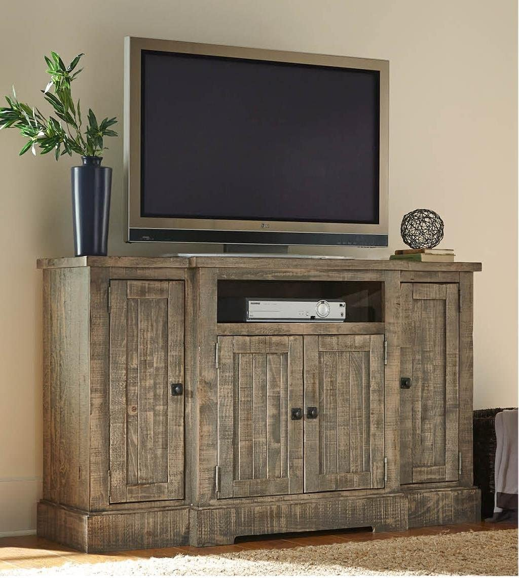 Progressive Meadow 60 TV Stand in Weathered Gray