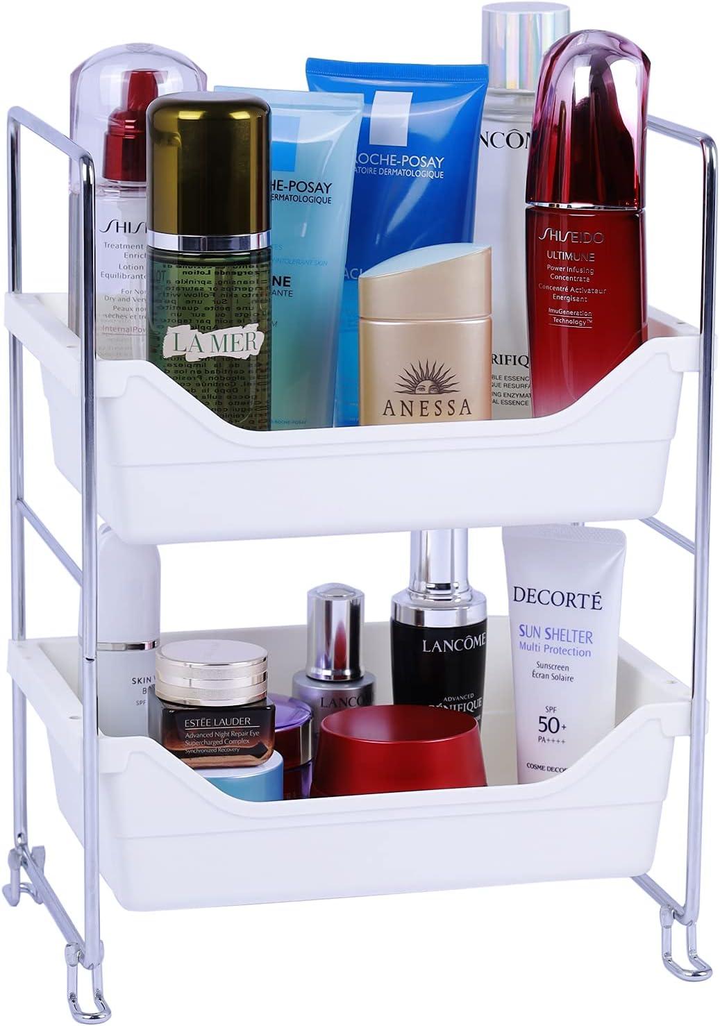 Bathroom Corner Shelf 2 Japan's largest Nashville-Davidson Mall assortment Tier Storage White Or Countertop Vanity