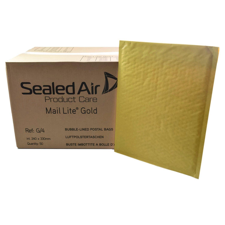 Sealed Air Mail Lite G/4 JL4-50 x Buste a sacco imbottite, 240 x 330 mm Mail-Lite-G4/ Gold