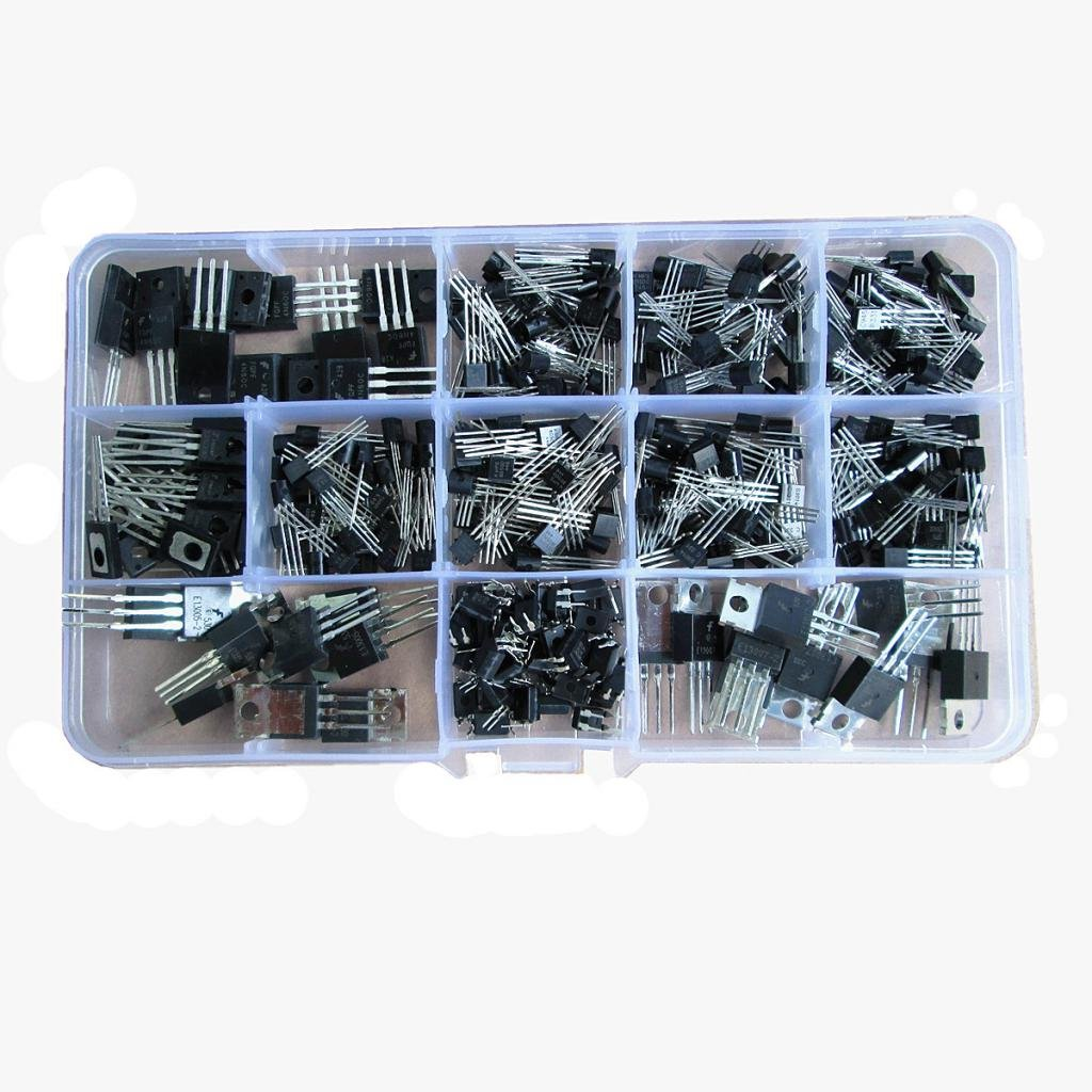 MagiDeal 370 St/ück 12 Typen Elektronischen Power Transistor Sortiment Kit Box