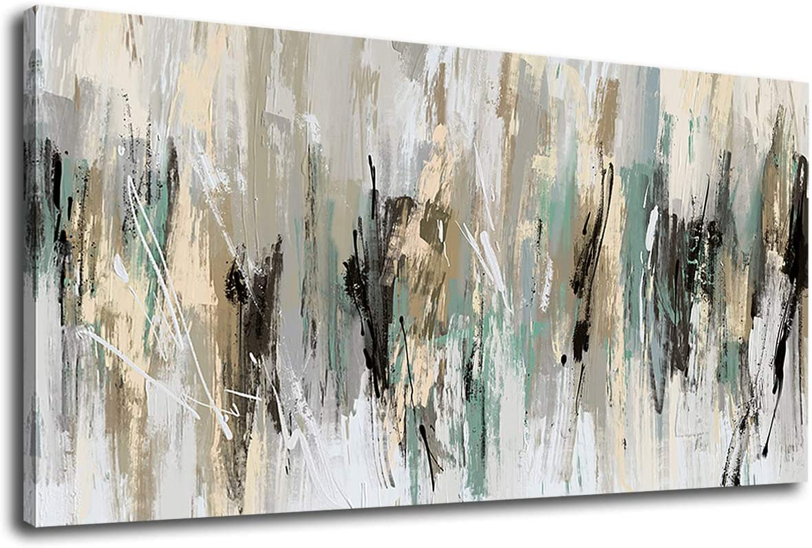 "tigeridge Abstract Wall Art Grey Modern Canvas Pictures Contemporary Canvas Artwork for Bedroom Living Room Bathroom Kitchen Office Home Wall Decor Framed Ready to Hang 20"" x 40"""