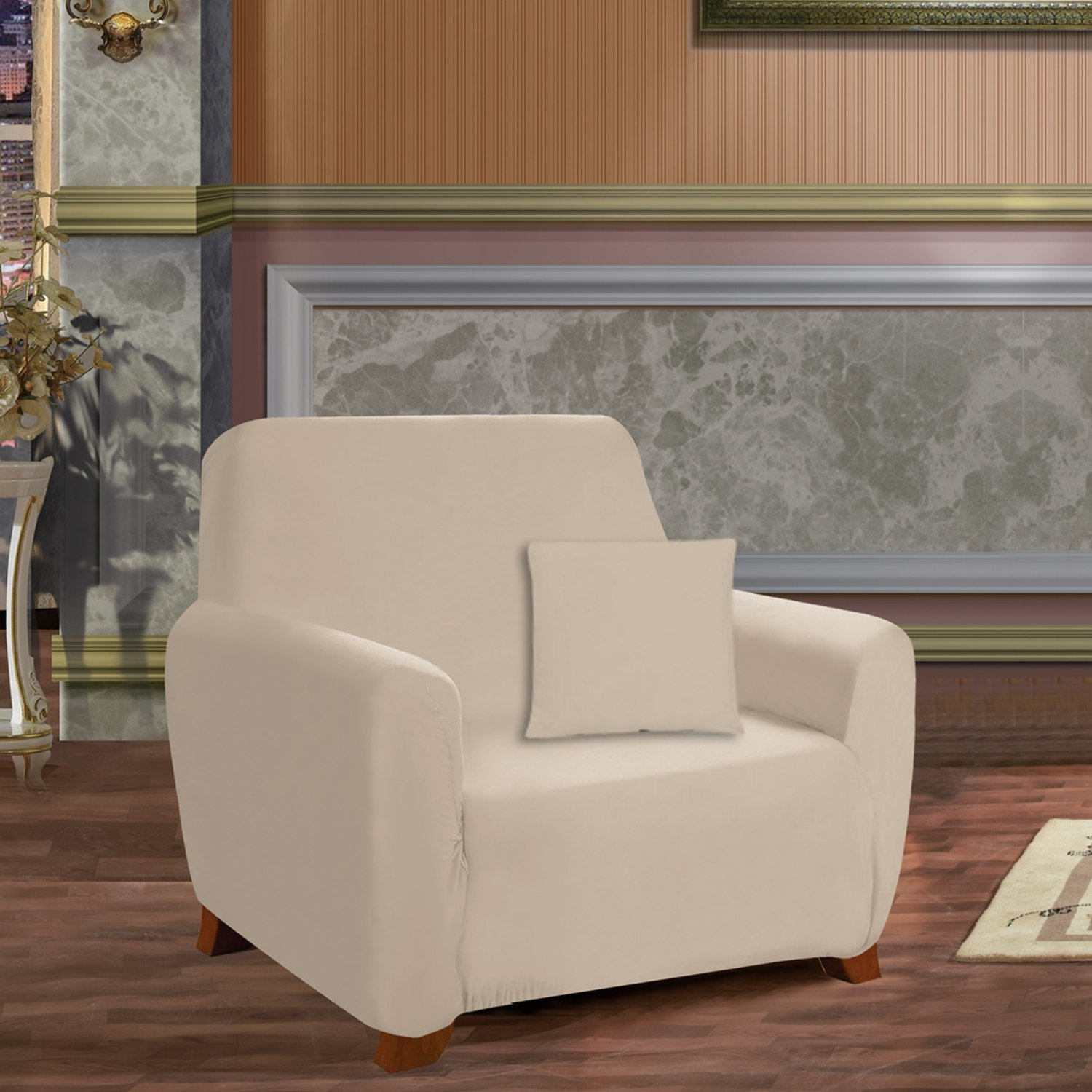 Chair Ruby Elegant Comfort Furniture Jersey STRETCH SLIPCOVER