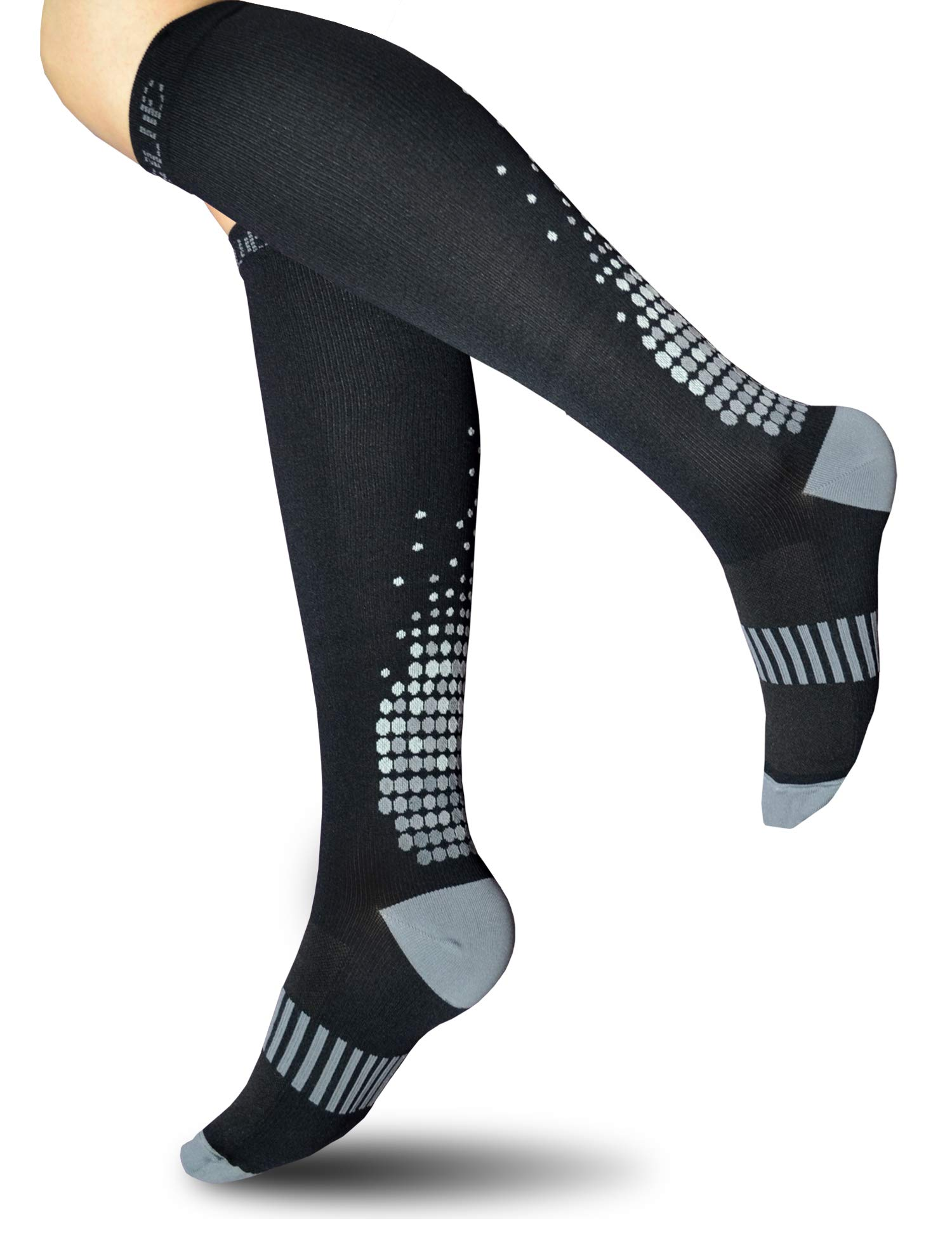 0bf1447e9bcc8 Details about SUGUE Compression Socks (1 Pair) for Women Men 20-30 mmHg -  Best Graduated