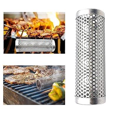senming 6 in Pellet Smoker Tube Stainless Steel Grill Smoker Grill Perforated Mesh Smoker Filter Gadget Hot Cold Smoking : Garden & Outdoor