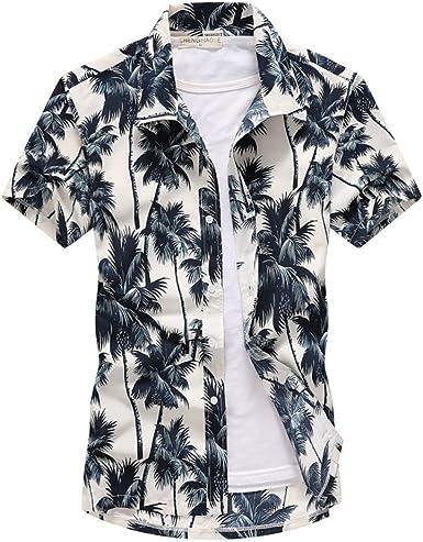 Mens Polo Shirtcamisa De Playa Hawaiana con Estampado De ...