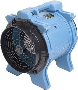 Dri-Eaz F174-BLU Vortex Axial 1.0 HP Ventilation Fan, 1.0 hp Motor, 7.4 Amp, Blue