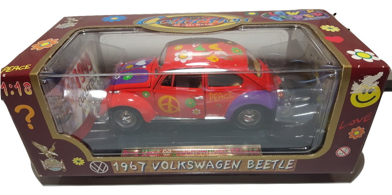 Volkswagen Beetle Flower Power Version 1//18 Scale Yat Ming Industrial Factory Limited 92079