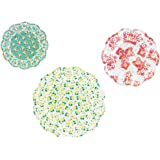 TALKING TABLES PASTRIES & PEARLS Floral Disposable Doilies for a Tea Party or Wedding, Mixed (24 Pack)