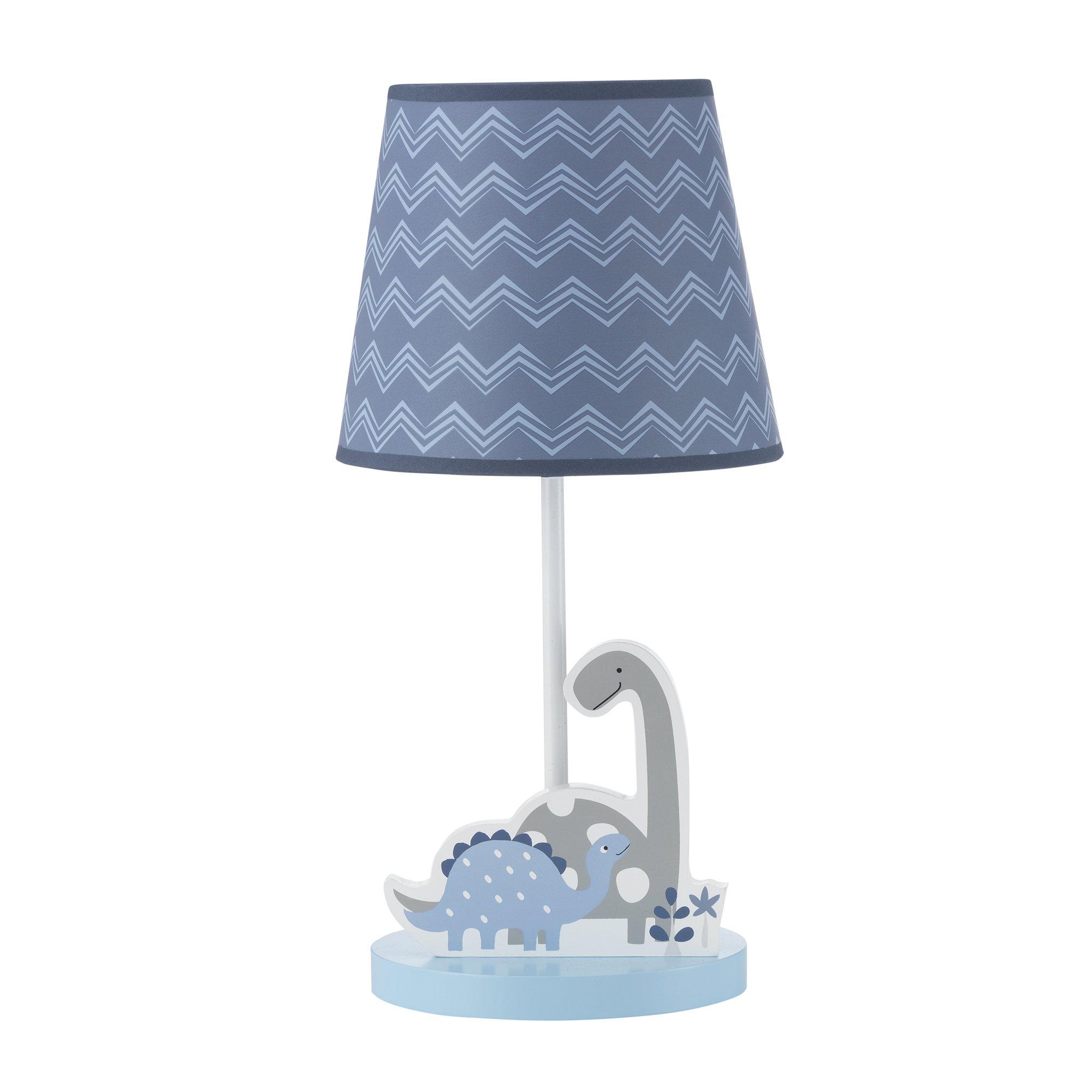Bedtime Originals Roar Dinosaur Lamp with Shade & Bulb, Blue/Gray by Bedtime Originals